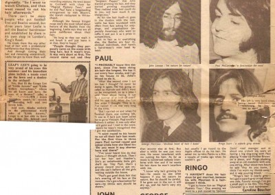 Lennon could go bald says Beatles Hairdresser article
