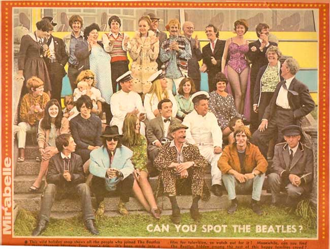 The members of the Magical Mystery Tour Party