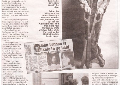 Beatles Hairdresser Press Cuttings 31