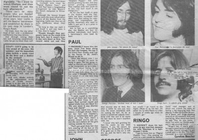 Beatles Hairdresser Press Cuttings 1