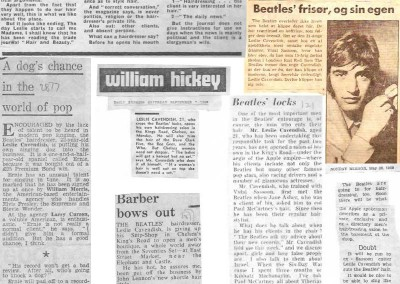 Beatles Hairdresser Press Cuttings 2