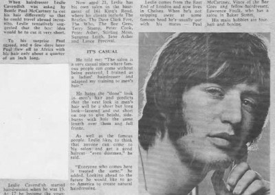 Beatles Hairdresser Press Cuttings 3