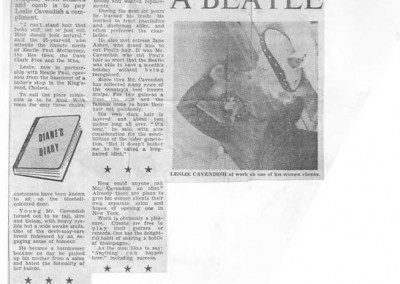Beatles Hairdresser Press Cuttings 6