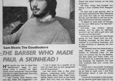 Beatles Hairdresser Press Cuttings 29