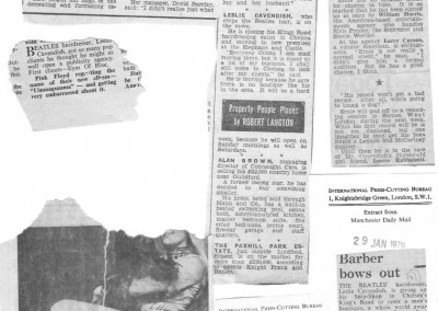 Beatles Hairdresser Press Cuttings 32