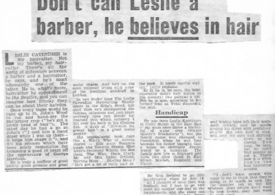 Beatles Hairdresser Press Cuttings 34