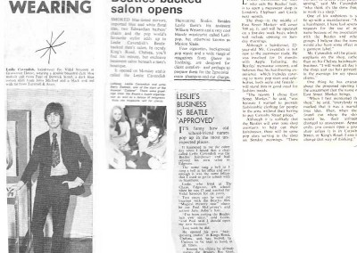 Beatles Hairdresser Press Cuttings 36