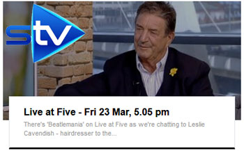 STV Live at Five Interview with Leslie Cavendish March 2018