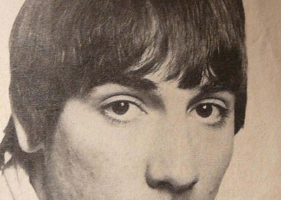 Keith Moon, of The Who at a photoshoot with Leslie Cavendish