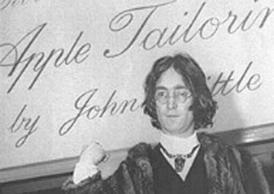 John Lennon opening Apple Tailoring