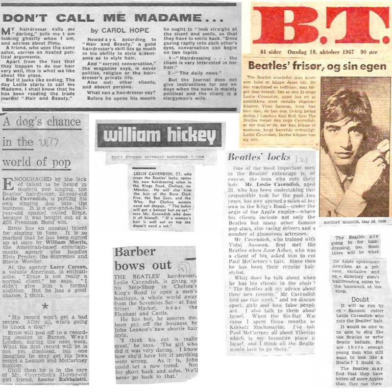 Beatles Hairdresser Press Cuttings 2