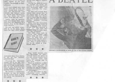 Beatles Hairdresser Press Cuttings 6