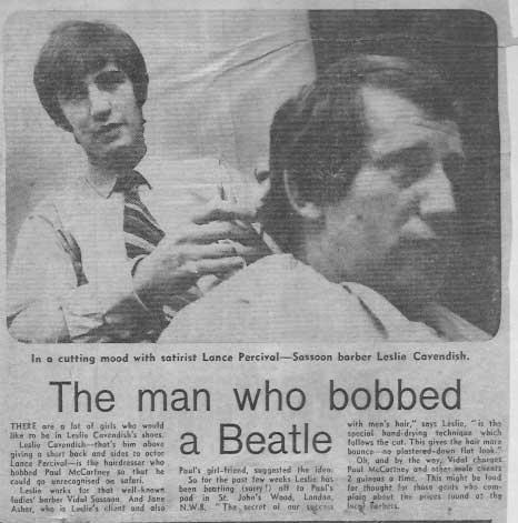 Beatles Hairdresser Press Cuttings 10