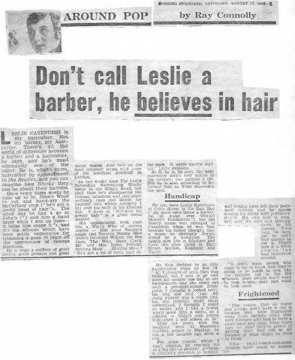 Beatles Hairdresser Press Cuttings 11