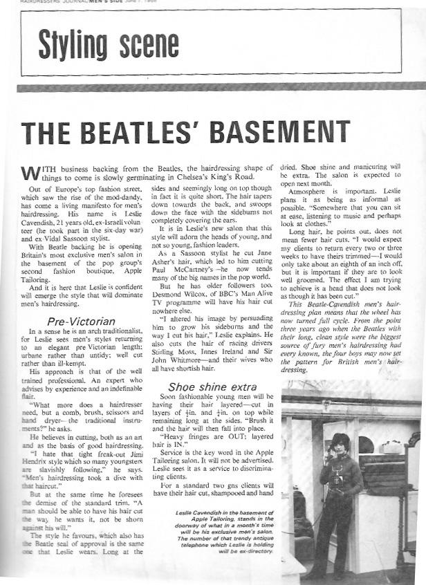 Beatles Hairdresser Press Cuttings 14