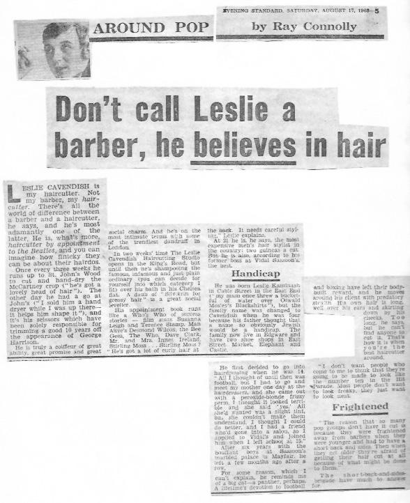 Beatles Hairdresser Press Cuttings 34