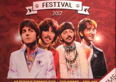 Official poster at the Cavern Club for International Beatles Week