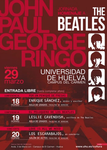 Leslie Cavendish Beatles Hairdresser at Huelva University