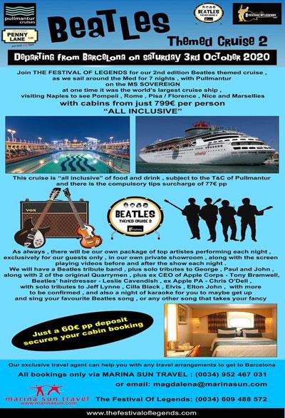 Beatles Hairdresser Cruise 2020