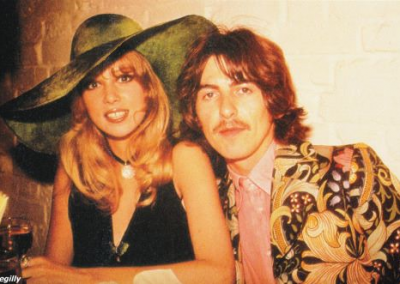George & Patti at the opening of The Apple Boutique, Kings Road, Chelsea, London
