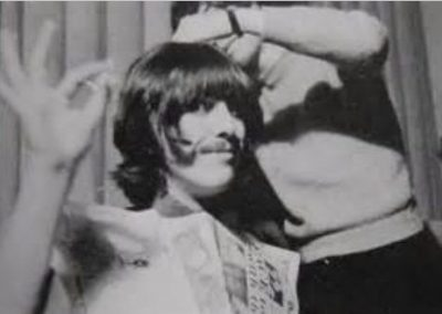 Leslie Cavendish cutting George Harrison's hair at Abbey Road Studio