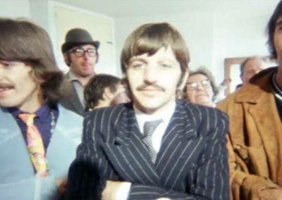 George, Ringo and Leslie Cavendish in the fish and chip shop on The Beatles Magical Mystery Tour