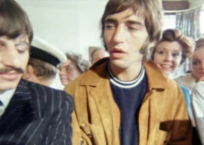 Ringo, Leslie and Paul in the fish and chip shop on The Beatles Magical Mystery Tour