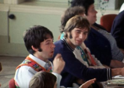 Leslie Cavendish and Paul McCartney on The Beatles Magical Mystery Tour
