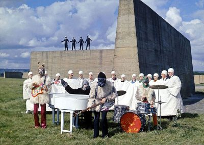 """The Beatles playing """"I Am The Walrus"""" on the Magical Mystery Tour"""